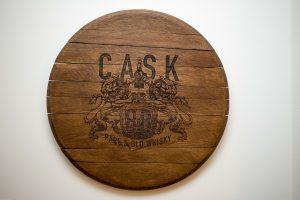 Whisky Barrel - Laser Engraved Oak Cask End