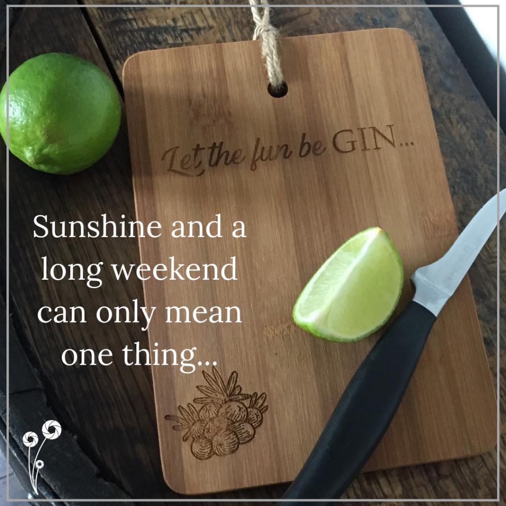 Ellie & Hart - Let the Fun Be Gin custom chopping board