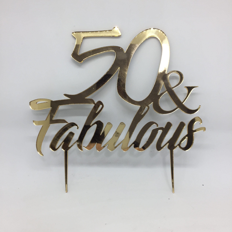Cake topper - acrylic cake topper - 50th birthday - birthday cake topper