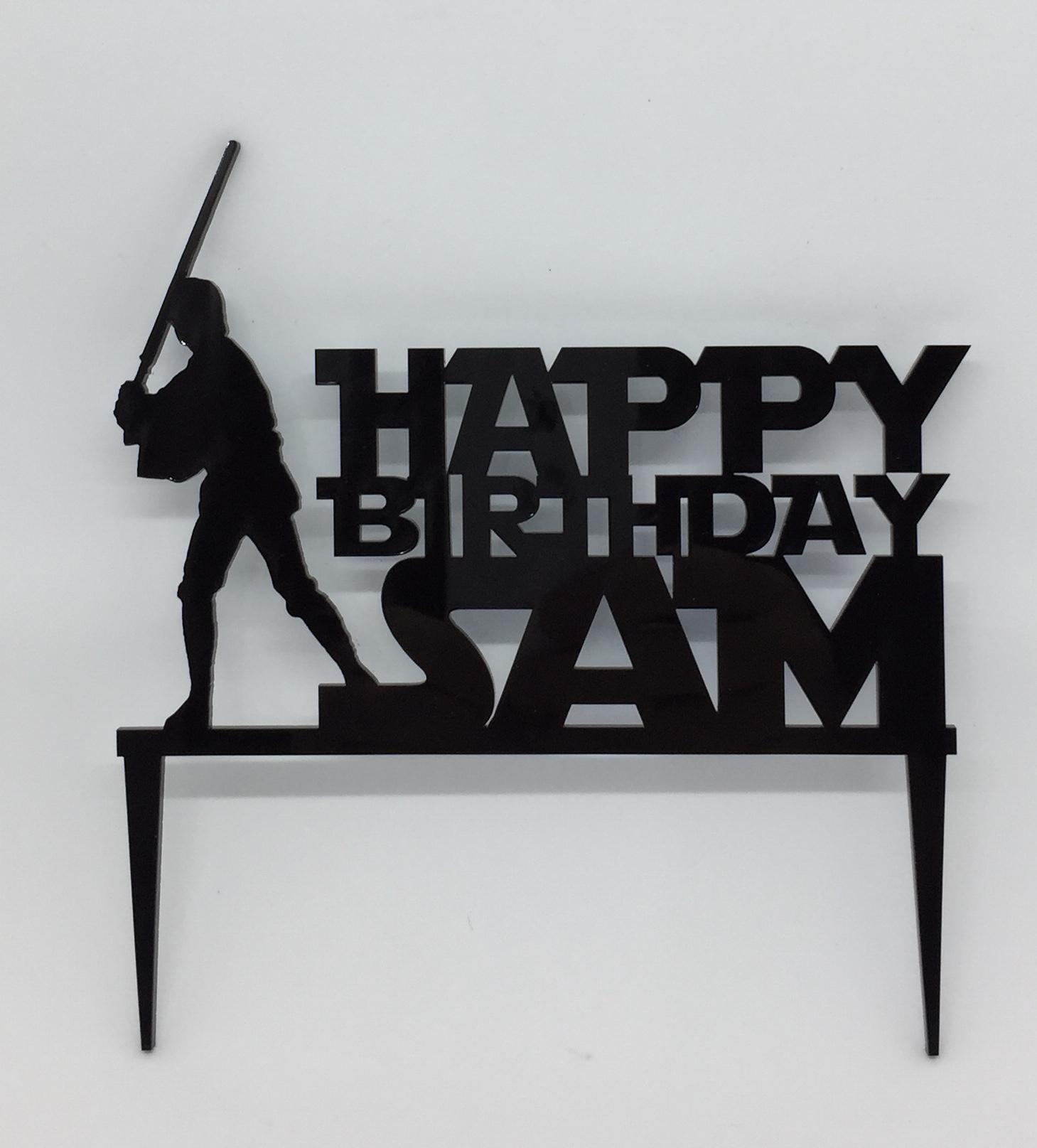 Amazing Cake Topper Acrylic Cake Toppers Acrylic Names Personalised Birthday Cards Fashionlily Jamesorg