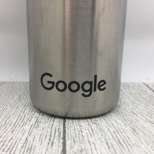 Laser engraved stainless steel water bottle with Google logo - Jerrys