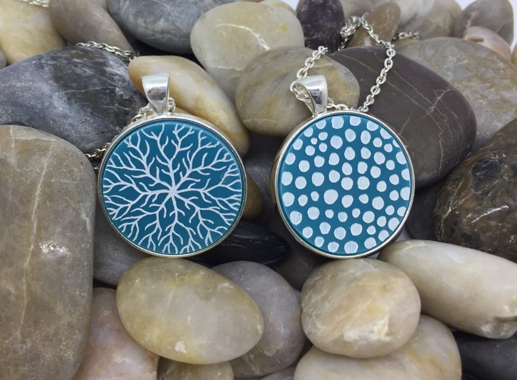 Ellie-and-Hart-Laser-cut-and-engraved-Acrylic-Pendants-Blue